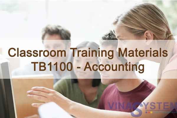 SAP Business One 9.2 Classroom Training Materials TB1100